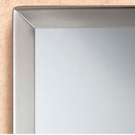 "Bobrick® Tempered Glass Channel-Frame Mirror - 18""W x 30""H - B1658 1830"