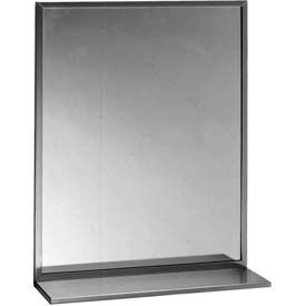 "Bobrick® Channel Frame Mirror/Shelf Combination - 18"" x 36"" - B166 1836"