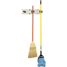 "Bobrick Mop/Broom Holder, Stainless, 24"", 3 Prongs - B223x24"