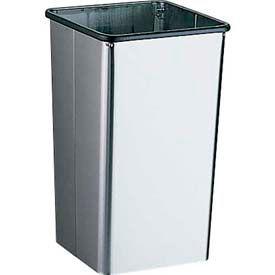Bobrick® Floor-Standing Open-Top Waste Receptacle - 13 Gal.