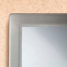 "Bobrick® Tempered Glass Welded-Frame Mirror - 24""W x 36""H - B2908 2436"