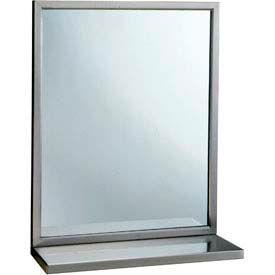 """Bobrick® Welded-Frame Mirror w/ Shelf - 18""""W x 36""""H - B292 1836"""
