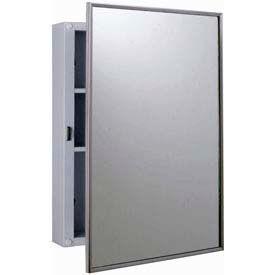 """Bobrick® Surface Mounted Medicine Cabinet - 14-1/8""""W White Enamel"""