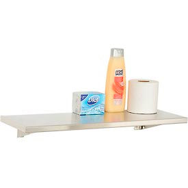 """Bobrick® Stainless Steel Shelf - 24""""W x 8""""D - B298x24"""