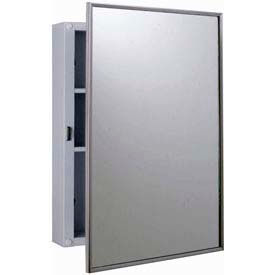 """Bobrick® Surface Mounted Medicine Cabinet - 17""""W Stainless Steel"""
