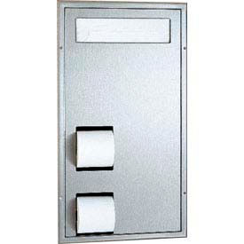 Bobrick® ClassicSeries™ Partition Flush Mount Seat/Tissue Dispenser - B3471