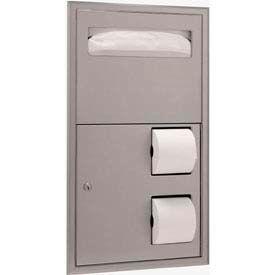 Bobrick® ClassicSeries™ Partition Side Mount Seat/Tissue Dispenser - B3474