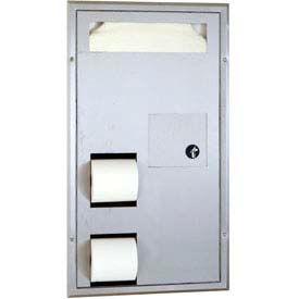 Bobrick® ClassicSeries™ Part. Flush Mount Seat/Tissue Dispens/Disposal - B3571