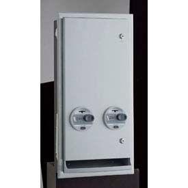 Bobrick® ClassicSeries™ 25 Cent Recessed/Semi-Recessed Sanitary Vendor - B3706 25