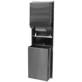Bobrick® ClassicSeries™ Recessed Convert. Roll Dispenser/Recept 18 Gal - B39617