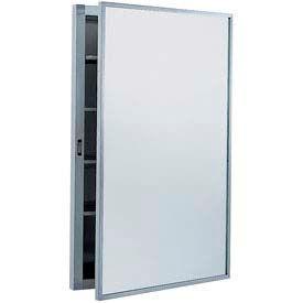 "Bobrick® Recessed Medicine Cabinet - 15-1/4""W Stainless Steel"