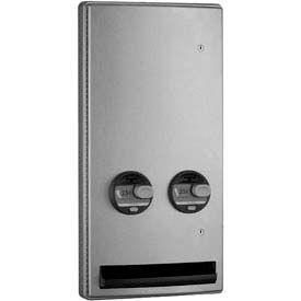 Bobrick® ConturaSeries® 25 Cent Semi-Recessed Sanitary Vendor - B47064 25