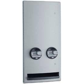 Bobrick® ConturaSeries® 25 Cent Recessed Sanitary Vendor - B4706 25