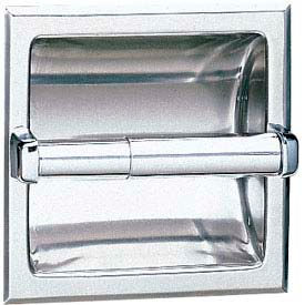 Bobrick® 600 Series Recessed Single Tissue Dispenser - Bright Polished - B667