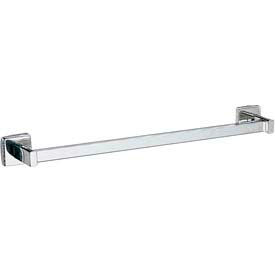 "Bobrick® Surface Mounted Square Towel Bar - 24"" Bright Polished - B673x24"