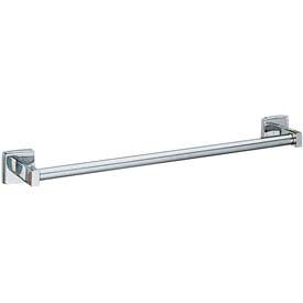 "Bobrick® Surface Mounted Round Towel Bar - 24""W Satin - B6747x24"