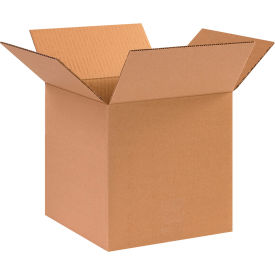 "Cube Cardboard Corrugated Boxes 10"" x 10"" x 10"" 200#/ECT-32 - Pkg Qty 25"