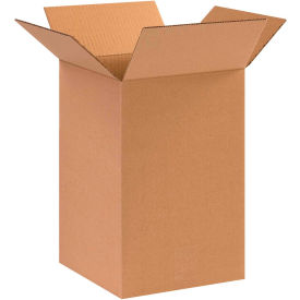 "Cardboard Corrugated Boxes 10"" x 10"" x 15"" 200#/ECT-32 - Pkg Qty 25"