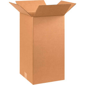 "Tall Cardboard Corrugated Boxes 10"" x 10"" x 20"" 200#/ECT-32 - Pkg Qty 25"