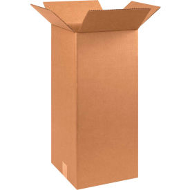 "Tall Cardboard Corrugated Boxes 10"" x 10"" x 24"" 200#/ECT-32 - Pkg Qty 25"