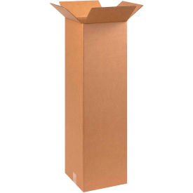 "Tall Cardboard Corrugated Boxes 10"" x 10"" x 30"" 200#/ECT-32 - Pkg Qty 25"