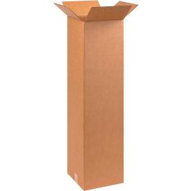"Tall Cardboard Corrugated Boxes 10"" x 10"" x 40"" 200#/ECT-32 - Pkg Qty 25"