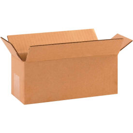 "Long Cardboard Corrugated Boxes 10"" x 4"" x 4"" 200#/ECT-32 - Pkg Qty 25"