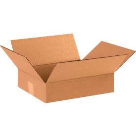 "Flat Cardboard Corrugated Boxes 12"" x 10"" x 3"" 200#/ECT-32 - Pkg Qty 25"
