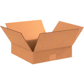 "Flat Cardboard Corrugated Boxes 12"" x 12"" x 3"" 200#/ECT-32 - Pkg Qty 25"