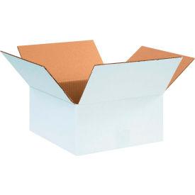 "Cardboard Corrugated Boxes 12"" x 12"" x 6"" 200#/ECT-32, White - Pkg Qty 25"