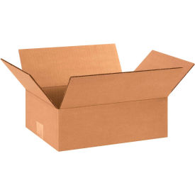 "Flat Cardboard Corrugated Boxes 12"" x 9"" x 4"" 200#/ECT-32 - Pkg Qty 25"