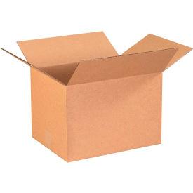 "Cardboard Corrugated Boxes 13-1/4"" x 10-1/4"" x 9"" 200#/ECT-32 - Pkg Qty 25"