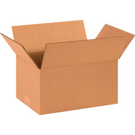"Cardboard Corrugated Boxes 14"" x 10"" x 7"" 200#/ECT-32 - Pkg Qty 25"