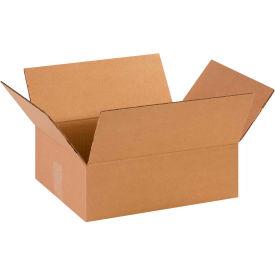 "Flat Cardboard Corrugated Boxes 14"" x 11"" x 4-1/2"" 200#/ECT-32 - Pkg Qty 25"