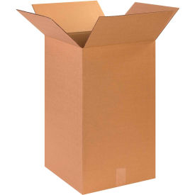 "Tall Cardboard Corrugated Boxes 14"" x 14"" x 24"" 200#/ECT-32 - Pkg Qty 15"
