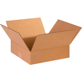 "Flat Cardboard Corrugated Boxes 14"" x 14"" x 4"" 200#/ECT-32 - Pkg Qty 25"