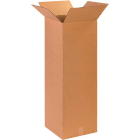 "Tall Cardboard Corrugated Boxes 14"" x 14"" x 40"" 200#/ECT-32 - Pkg Qty 15"