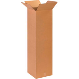 "Tall Cardboard Corrugated Boxes 14"" x 14"" x 48"" 200#/ECT-32 - Pkg Qty 10"