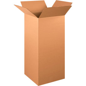 "Tall Cardboard Corrugated Boxes 15"" x 15"" x 36"" 200#/ECT-32 - Pkg Qty 15"
