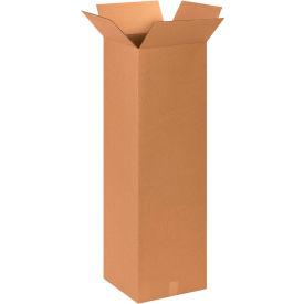 "Tall Cardboard Corrugated Boxes 15"" x 15"" x 48"" 200#/ECT-32 - Pkg Qty 10"