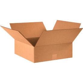 "Flat Cardboard Corrugated Boxes 16"" x 16"" x 5"" 200#/ECT-32 - Pkg Qty 25"