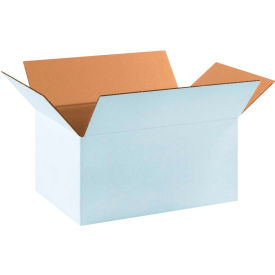 "Cardboard Corrugated Boxes 17-1/4"" x 11-1/4"" x 8"" 200#/ECT-32, White - Pkg Qty 25"