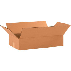 "Flat Cardboard Corrugated Boxes 18"" x 10"" x 4"" 200#/ECT-32 - Pkg Qty 25"