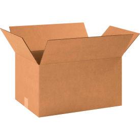 "Cardboard Corrugated Boxes 18-1/2"" x 12-1/2"" x 10"" 200#/ECT-32 - Pkg Qty 20"