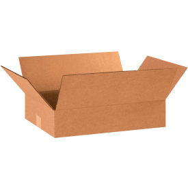 "Flat Cardboard Corrugated Boxes 18"" x 12"" x 4"" 200#/ECT-32 - Pkg Qty 25"