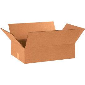 "Flat Cardboard Corrugated Boxes 18"" x 12"" x 5"" 200#/ECT-32 - Pkg Qty 25"
