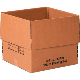 """Deluxe Cardboard Corrugated Packing Boxes 18"""" x 18"""" x 16"""" 200#/ECT-32 - Pkg Qty 20"""