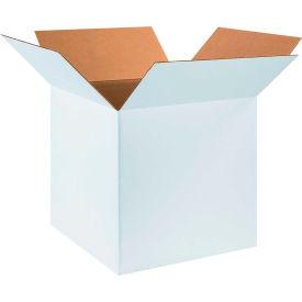 "Cardboard Corrugated Boxes 18"" x 18"" x 18"" 200#/ECT-32, White - Pkg Qty 20"