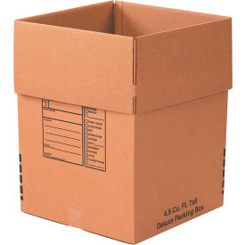 "Deluxe Cardboard Corrugated Packing Boxes 18"" x 18"" x 24"" 200#/ECT-32 - Pkg Qty 15"