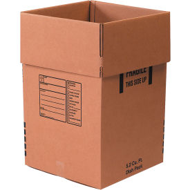 "Cardboard Corrugated Dish Pack Boxes 18"" x 18"" x 28"" 350#/ECT-51 - Pkg Qty 5"